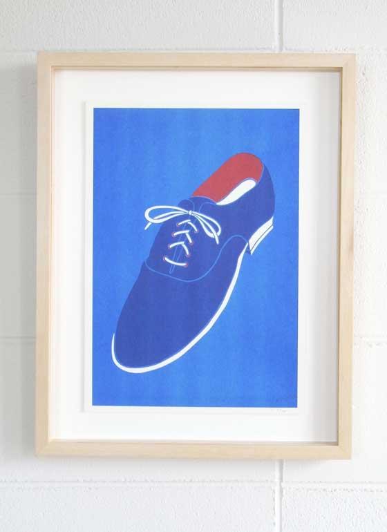 PR-77-009-Blue-Suede-Shoes-Framed